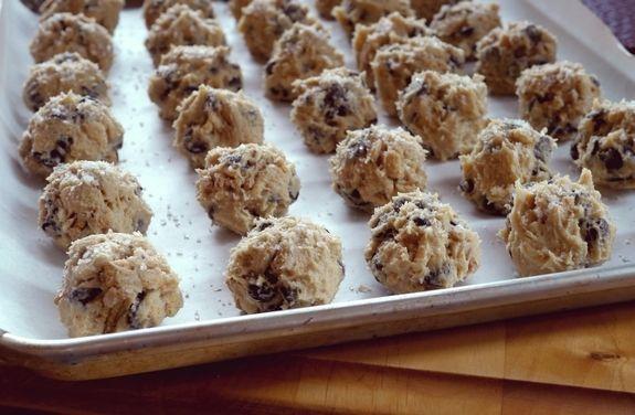 Dark Chocolate Sea Salt Kashi Cereal Cookies dough balls