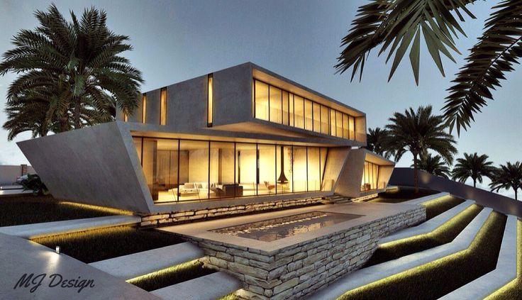 Villa In Riyadh Saudi Arabia Architect Mohammed Jarbua Arch Msj Exterior Home Design