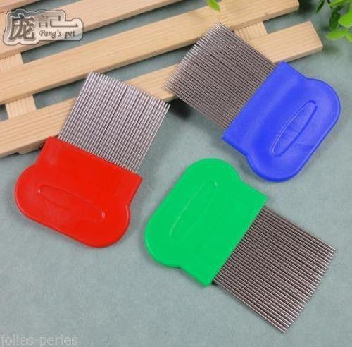 JP Anoplura flea comb cheopis cootie stainless steel lice comb Grooming Brush