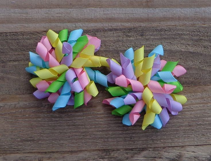 Easter Hair Bow~Pigtail Bows for Easter~Pastel Hair Bows~Easter Boutique Hair Bow~Korker Hair Bows~Hair Bows for Easter~Pigtail Hair Bow~Bow by LizzyBugsBowtique on Etsy