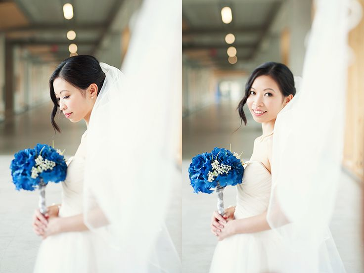 @nouvellephotography #wedding photos. Amazing photos, makeup and hair for my wedding day. #blue #hydrangea #bouquet #veil. Thanks to @Danielle West-All Dolled Up Makeup & Hair Studio for amazing makeup and hair!