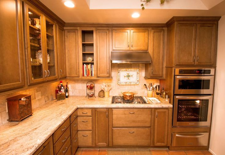 with Chocolate glaze, Golden Ivory granite, stainless steel appliances