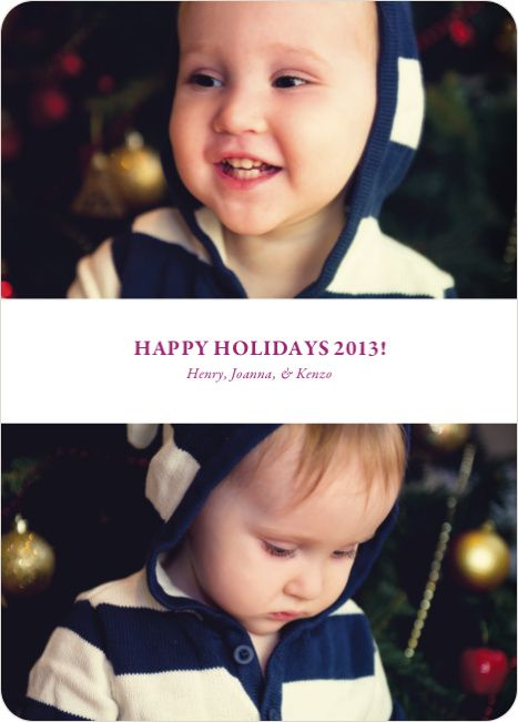 Inverted Photo Sandwich Holiday Cards