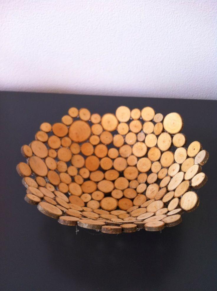 Een schaal van houtplakjes knutselen (+werkbeschrijving):