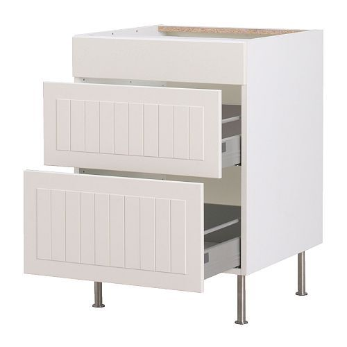 Ikea Trones Armoire A Chaussures ~ AKURUM Base cabinet with 3 drawers, white, Ståt white $249 97
