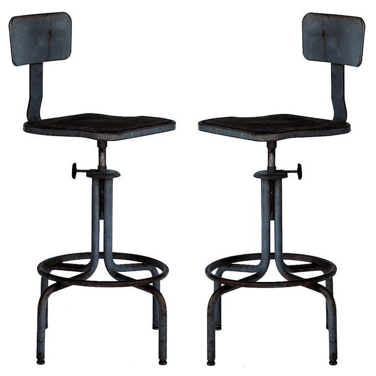 Pair of Swiveling Workshop Bar Stools | From a unique collection of antique and modern swivel  sc 1 st  Pinterest & Best 25+ Stools for sale ideas on Pinterest | Bar stools for sale ... islam-shia.org