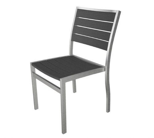 2 Patio Chairs by Gordon Companies, Inc. $486.00. Please refer to SKU# ATR25812115 when you inquire.. Brand Name: Gordon Companies, Inc Mfg#: 30730183. Picture may wrongfully represent. Please read title and description thoroughly.. This product may be prohibited inbound shipment to your destination.. Shipping Weight: 28.00 lbs. 2 Patio Chairs/grey with silver frame/all weather/made of recycled plastic bottles and steel hardware/33.5''H x 18.75''W x 21.75''D/17.25'' from seat bo...
