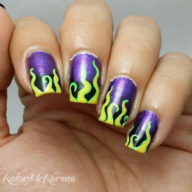 Instagram media by kolormekarma - Maleficent  #nail #nails #nailart