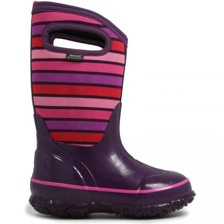 Bogs Classic Purple Stripes boots will want to make you play outside come  rain