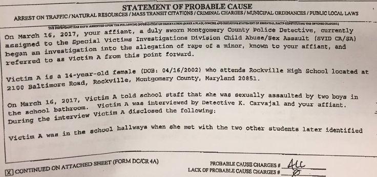 Rockville Maryland High School Illegal Alien Gang Rape Court