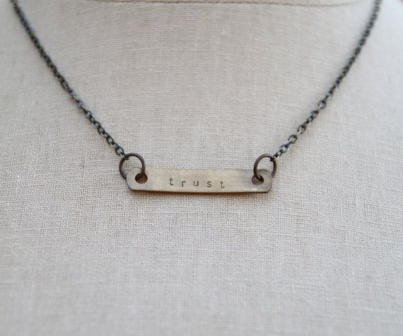 Trust this moment. This sun upon your head. This space you create as you breathe. This truth that rests within you. Yes. :: the simple bar Soul Mantra necklace (customizable)
