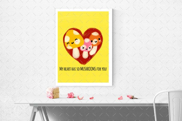 Excited to share the latest addition to my #etsy shop: My Heart has so Mushrooms for you Mushrooms Puns - Printable Wall Art with Multiple Sizes by The Blushy Kitten {INSTANT DIGITAL DOWNLOAD}