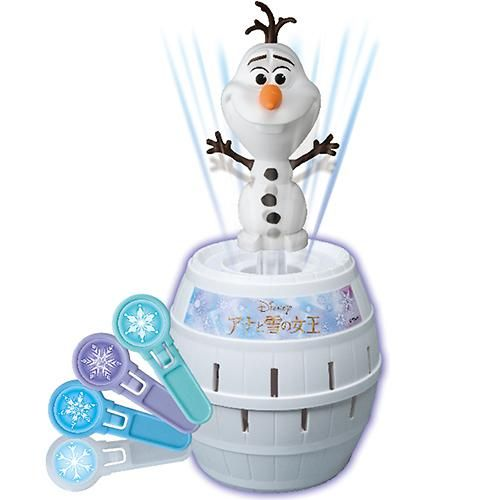 Olaf Pop-up Game  A popular toy played by Japanese children is the Kiki Ippatsu or more commonly known as the Pop-up Pirate Game wherein you use a sword to impale a barrel with a pirate inside and whoever makes the pirate pop out of the barrel is the loser. 5% off with this coupon *MOE-IFF-AC7SNY*