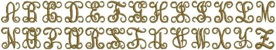 Embroidery Fonts: Interlocking