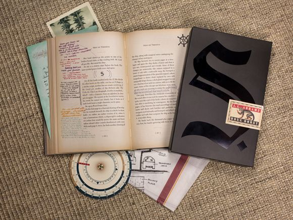 This looks amazing. J.J. Abrams and Doug Dorst collaborate on a novel written in the margins and notes stuffed inside another book. Very tactile way of storytelling.