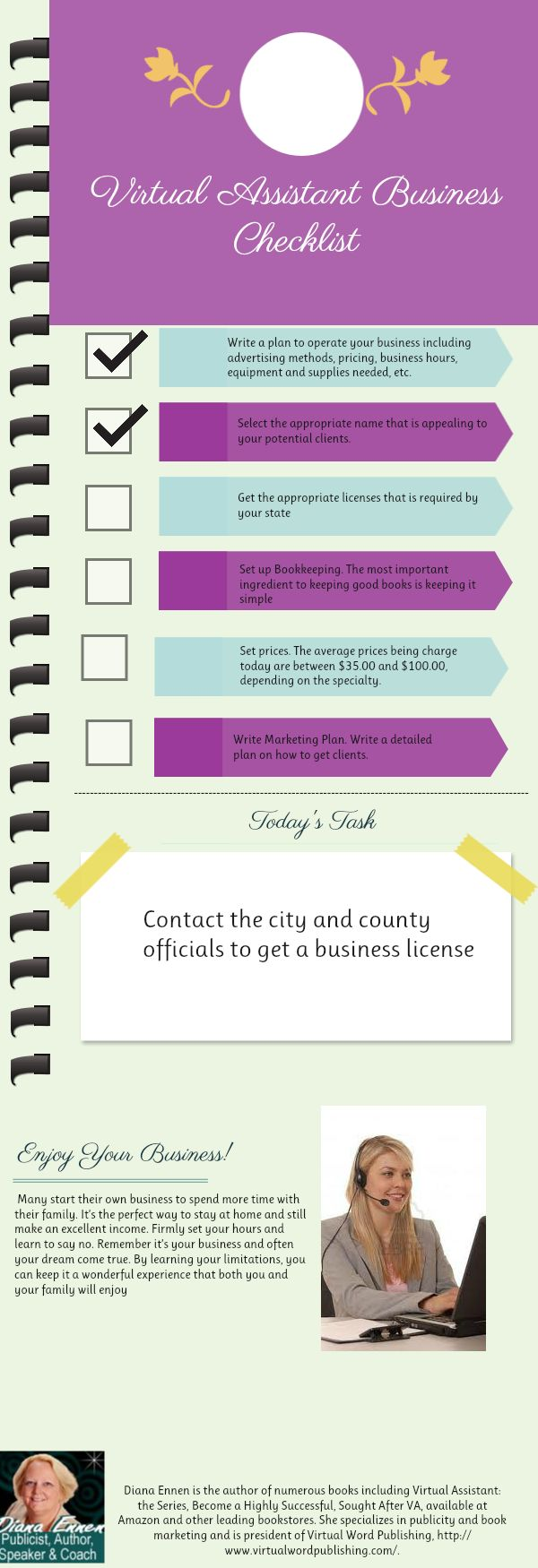 #vatip Virtual Assistant Business Checklist