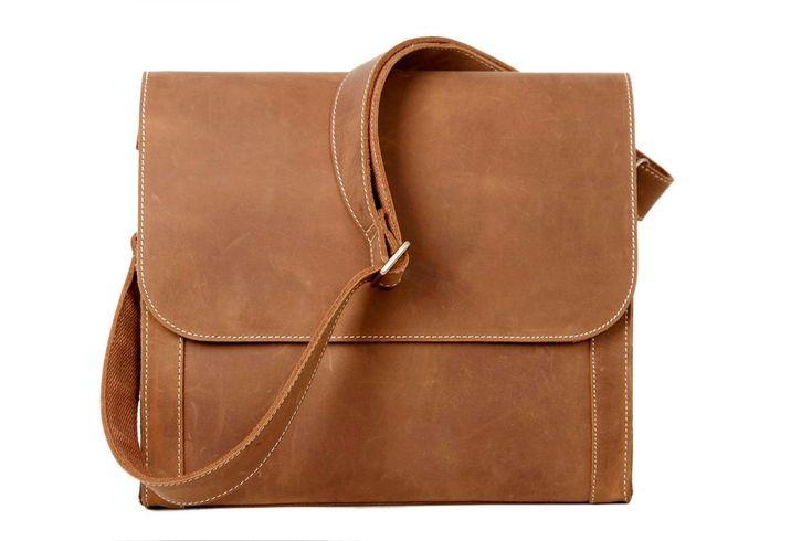 seiichi vintage brown minimalist messenger bag (small)