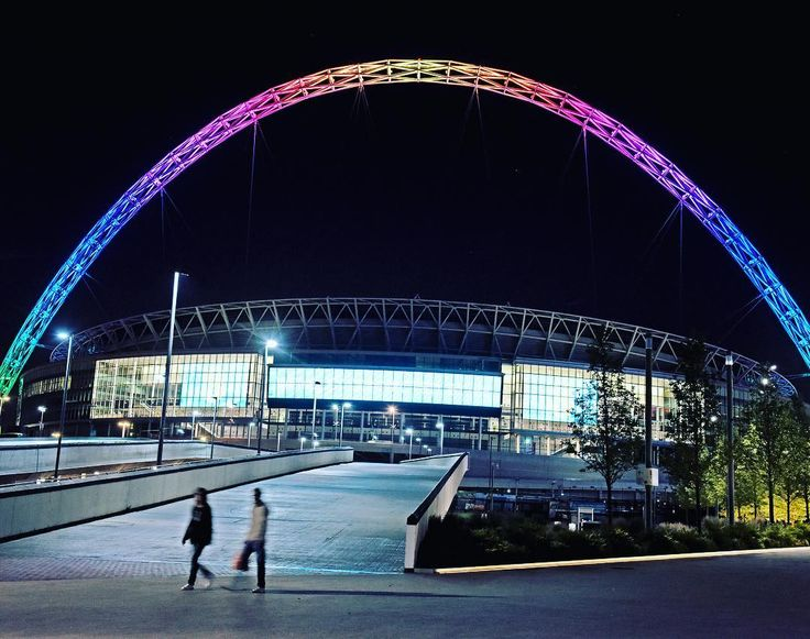 """4,015 Likes, 55 Comments - Wembley Stadium (@wembleystadium) on Instagram: """"The #Wembley arch will be lit this weekend to show our support for the #rainbowlaces campaign"""""""