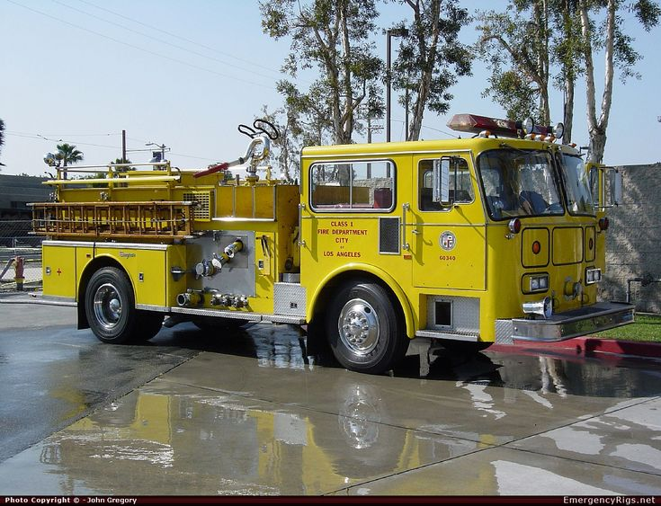 Seagrave  Pumper Los Angeles Fire Department Emergency Apparatus Fire Truck Photo
