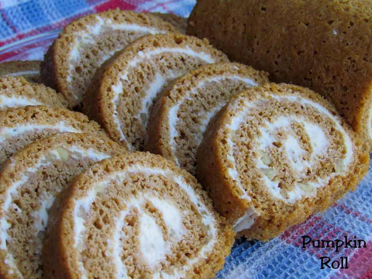 Pumpkin Roll.. use to make these for my families thanksgiving.. need to start making them again