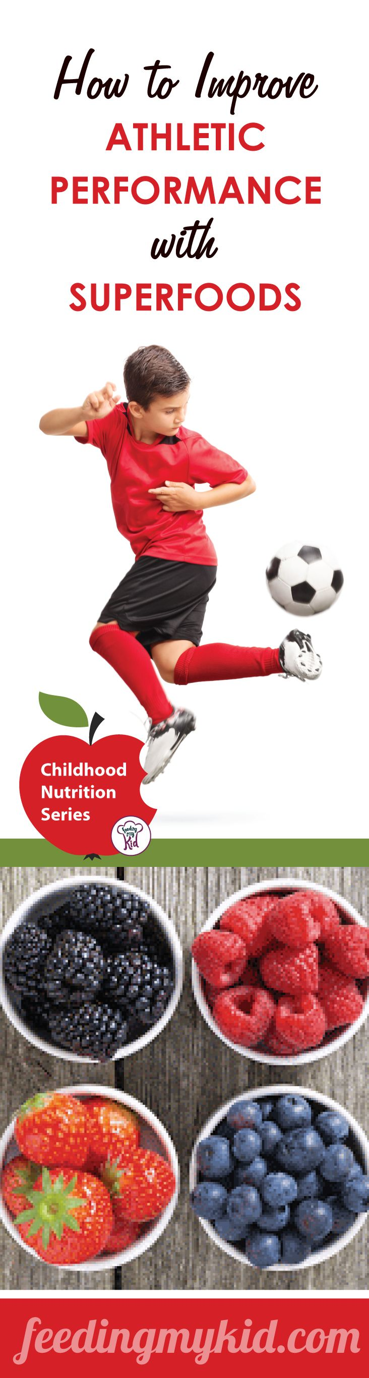 How to Improve Athletic Performance with Superfoods - Check out all these amazing foods your child can eat that will give him the energy he needs to beat the game! These amazing foods are called superfoods! Check them out!