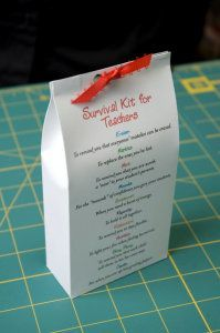 """Survival Kit for Teachers"" PDF Pattern - Gifts U Can Make"
