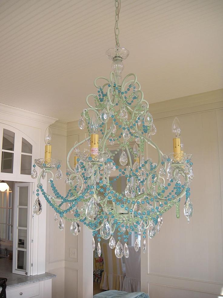 turquoise chandelier - Turquoise Chandelier Light