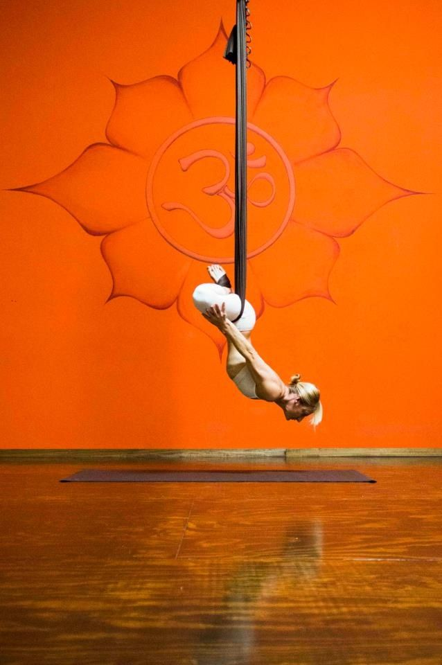 Lotus inversion, AiReal yoga.  Flip your hour glass. #yoga #aerial #aerialyoga #hammock
