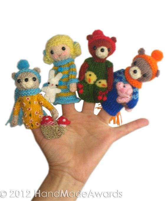 GOLDILOCKS and the Three Bears Finger PUPPETS by HandMadeAwards, $4.75