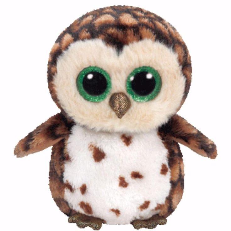 Ty Beanie Boos Regular - SAMMY the Brown Owl Beanie Boo Soft Plush New BNWT