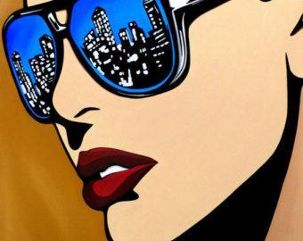 Abstrakter Akt Malerei Original Modern Pop-Art zeitgenössische
