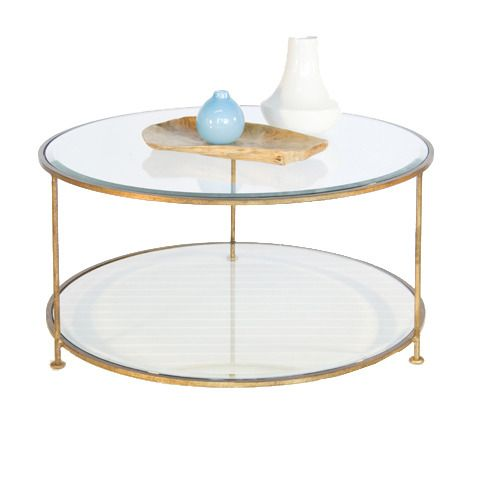 Gold leaf iron round coffee table with beveled glass tops. - 25+ Best Ideas About Gold Coffee Tables On Pinterest Coffee