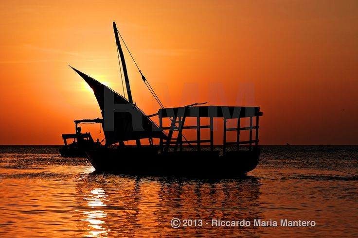 Zanzibar Sunset  Sunset behind a Sail in Zanzibar  For more photos follow me on instagram @riccardo_mantero