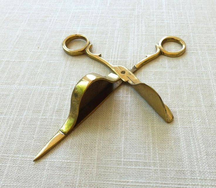 Brass Candle Wick Trimmer Oil Lamp Trimmer Snuffer Forbici