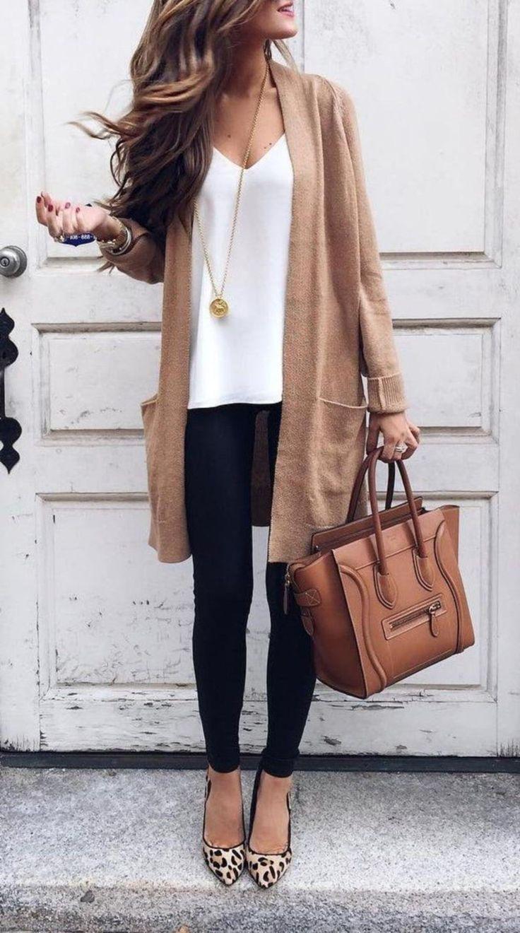 Stylische Business-Casual-Outfits mit Wohnungen 12 ...