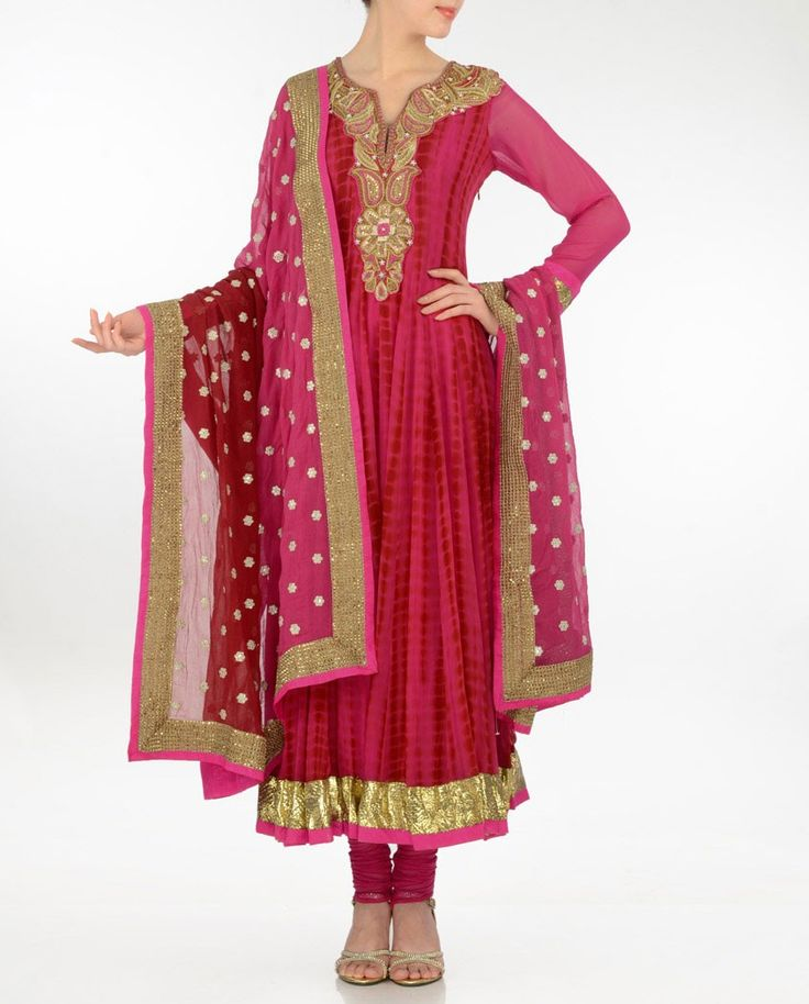 Magenta Anarkali Style Suit - Buy Aneesh Agarwaal* Online | Exclusively.in Shop Online | Indian Bridal Wear | Wedding Wear