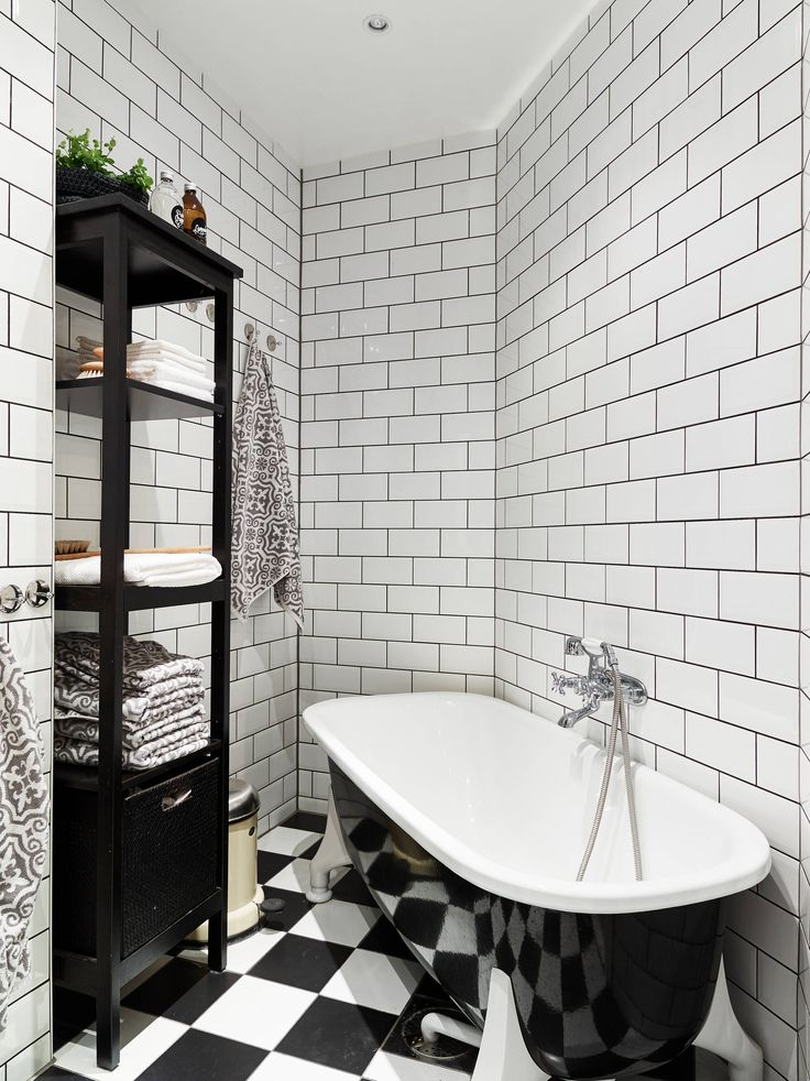 Black and white bathroom with a lovely