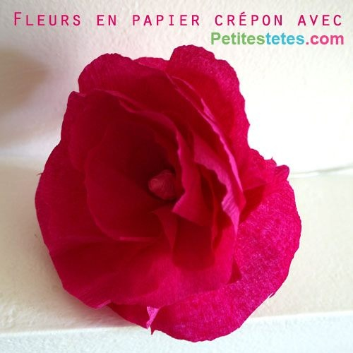 108 best images about cadeau f te m res p res on pinterest - Fleur en crepon ...
