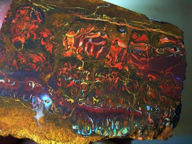 Natural Boulder Opal from Koroit, Australia
