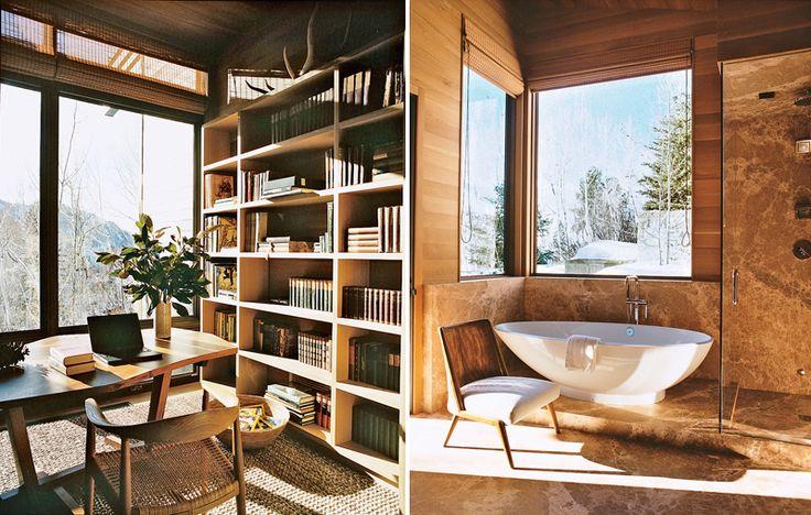 Winter Mountain Cabin  - Study Room & Bath