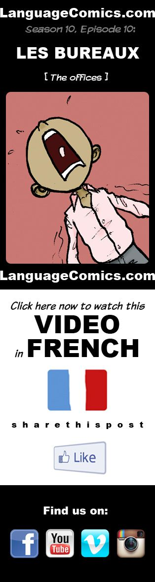 #french video practice and pronunciation.  https://youtu.be/pUDvZocX1yE?list=PLF224E336D81A683D
