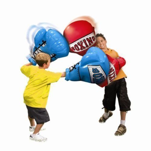 Giant Kids Inflatable Boxing Gloves Glove Toy Toys Outdoor Boys Play Blue Red