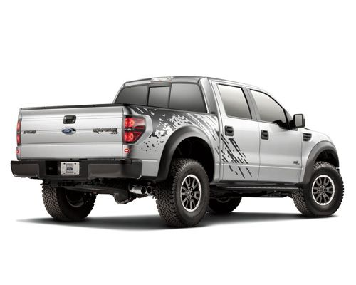 Ford F-150 Raptor  The Ford F-150 Raptor isn't just a standard pickup truck; it is a truck on steroids. The Raptor comes with a 5.4L V8 engine and the option to upgrade to a 6.2L V8. The 6.2L Raptor gets only 11 mpg in the city and 14 on the highway, good for a Green Score of 20. Surprisingly (or not), the Ford F-150 flex fuel vehicle made an appearance on the GreenerCars.org Greener Choices 2011 list with a Green Score of 32