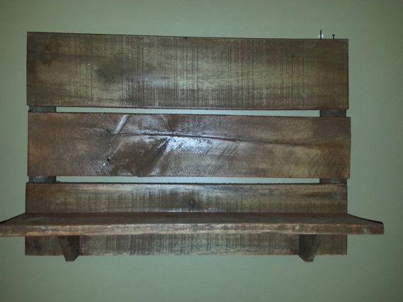 Rustic Pallet shelf  country western decor by TeesTransformations