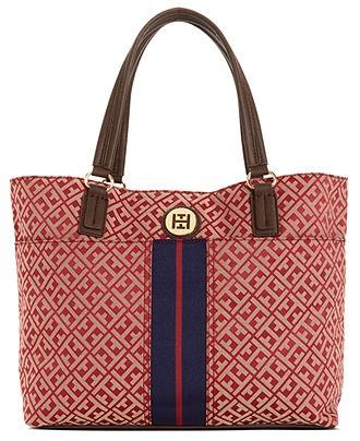 Tommy Hilfiger Handbag, Signature Jaquard Tote - Tote Bags - Handbags & Accessories - Macy's