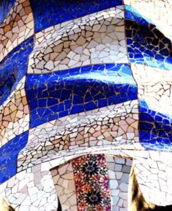 Gaudi also used recycled ceramic fragments in his works.