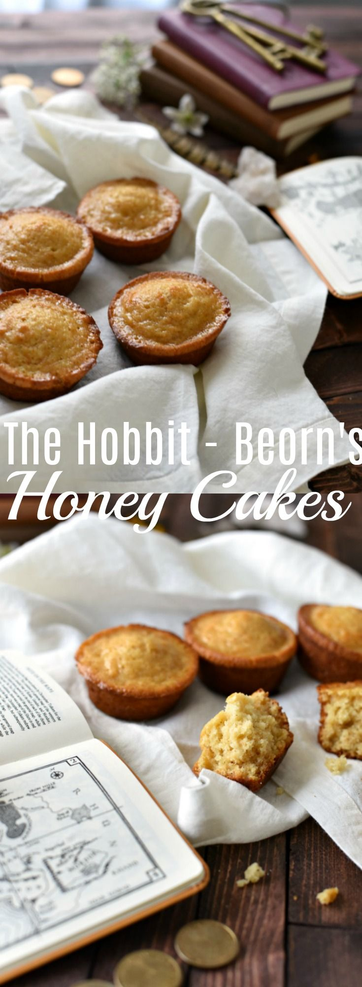 These twice baked honey cakes are slightly crispy on the outside, but dense and moist on the inside, plus full of amazing honey flavor. This Hobbit inspired cake recipe is a perfect treat for breakfast, dessert, or an afternoon snack!  From The Hobbit - Beorn's Honey -Cakes -  Lord of the Rings Recipe