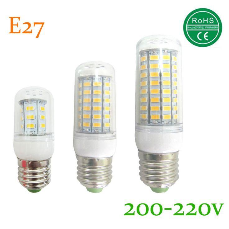 Lamparas bombillas led bombilla e27 smd llevó la luz 5730 24 36 48 56 69 72 81 89 led lampada IC llevó la lámpara e27 bulbo de la vela 220 v