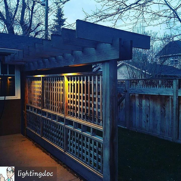 Another Great use for @fxluminaire LF Hardscape Lighting to Light up this Backyard Lattice... #FxLuminaire #landscapelighting #fxluminairechallenge Learn more at http://ift.tt/2lqiJ8m Learn more at http://ift.tt/2lqiJ8m
