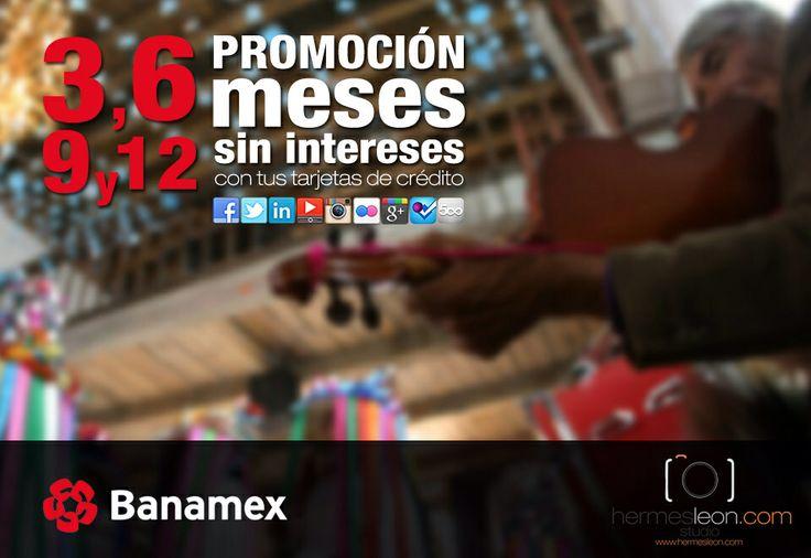 ahora en hermesleon.com, podrás hacer tus pagos a meses sin intereses, con tus tarjetas de crédito Banamex. * aplican restricciones